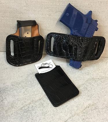 Sig 938 Black Alligator 3 pcs. Set