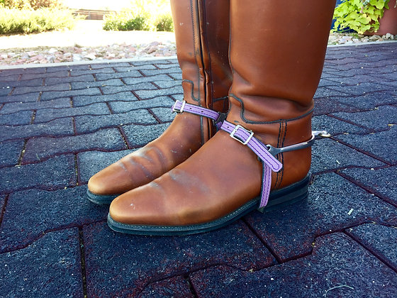 Lilac Leather Spur Straps