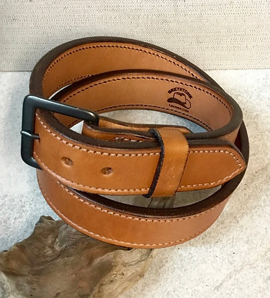 "38"" Tan English Bridle Leather Belt"