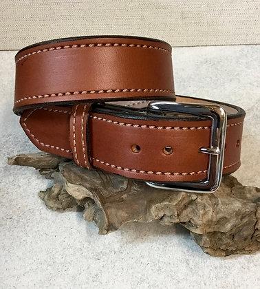 """28"""" Chestnut English Bridle Leather Belt"""
