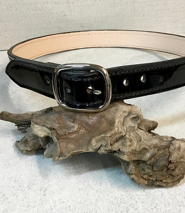"36"" Black Patent Leather Belt"