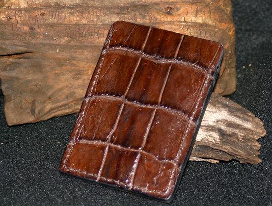 Alligator Card Holder, Minimalist Wallet