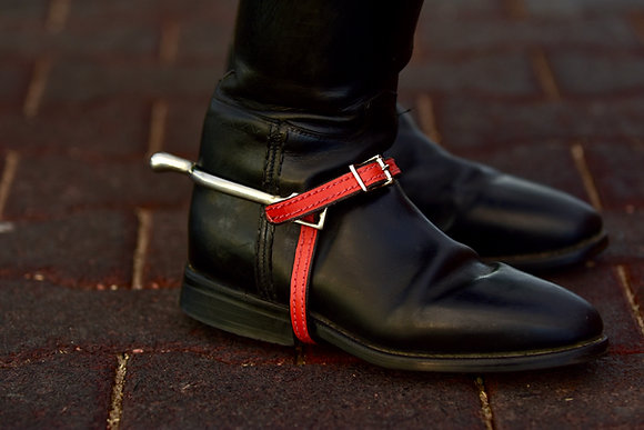 Chili Red Leather Spur Straps
