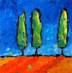 Three Tuscan Trees