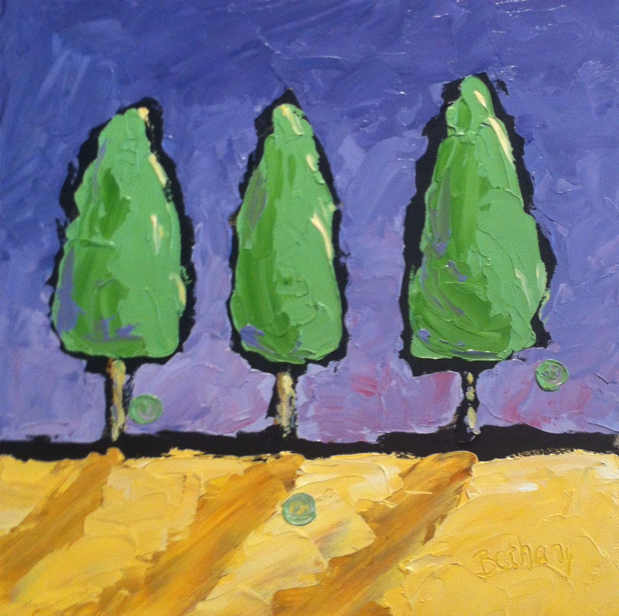 Three Tall Trees