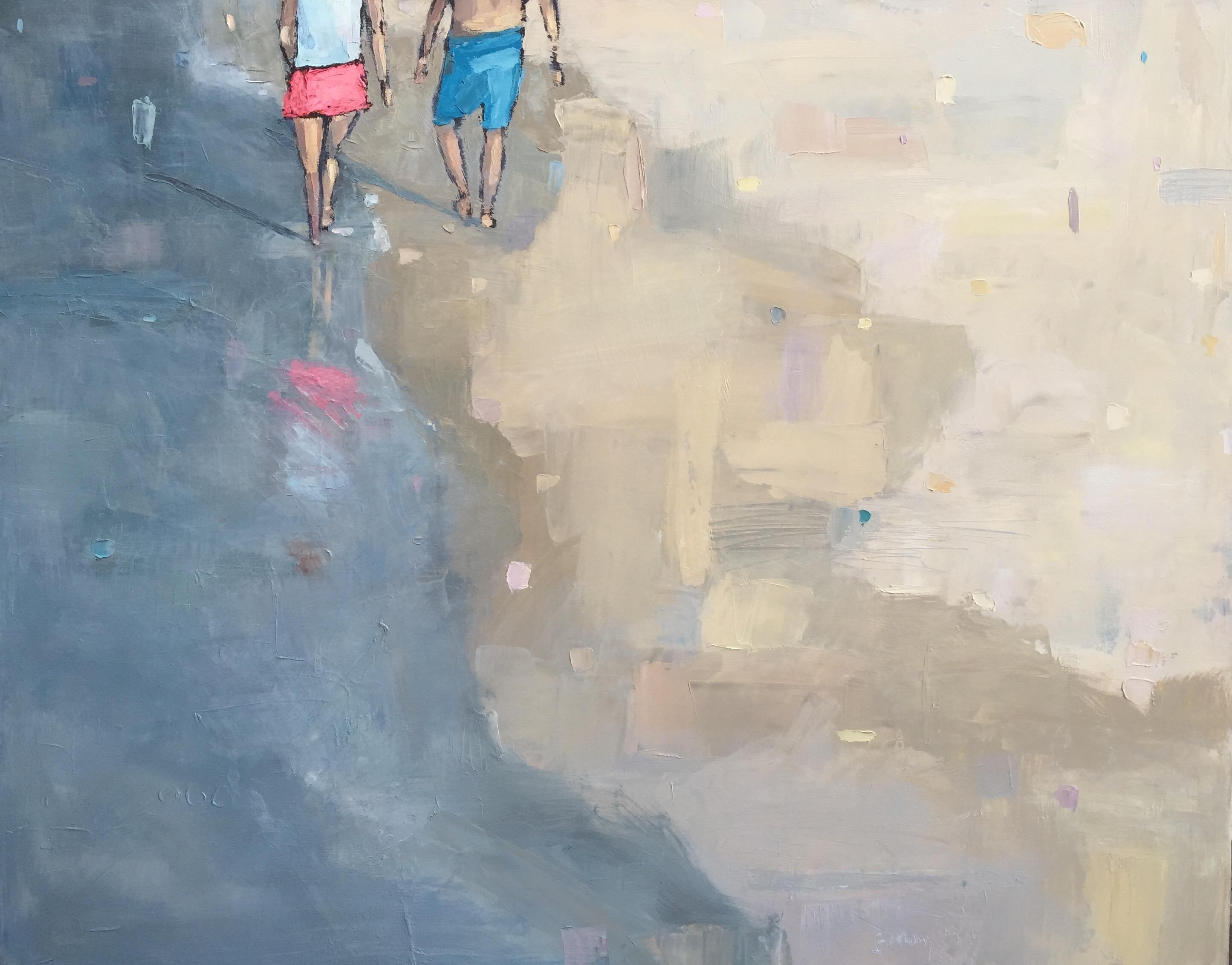 Walking. Talking. Barefoot.