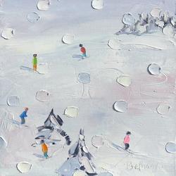 Ski Days - Blue Flakes
