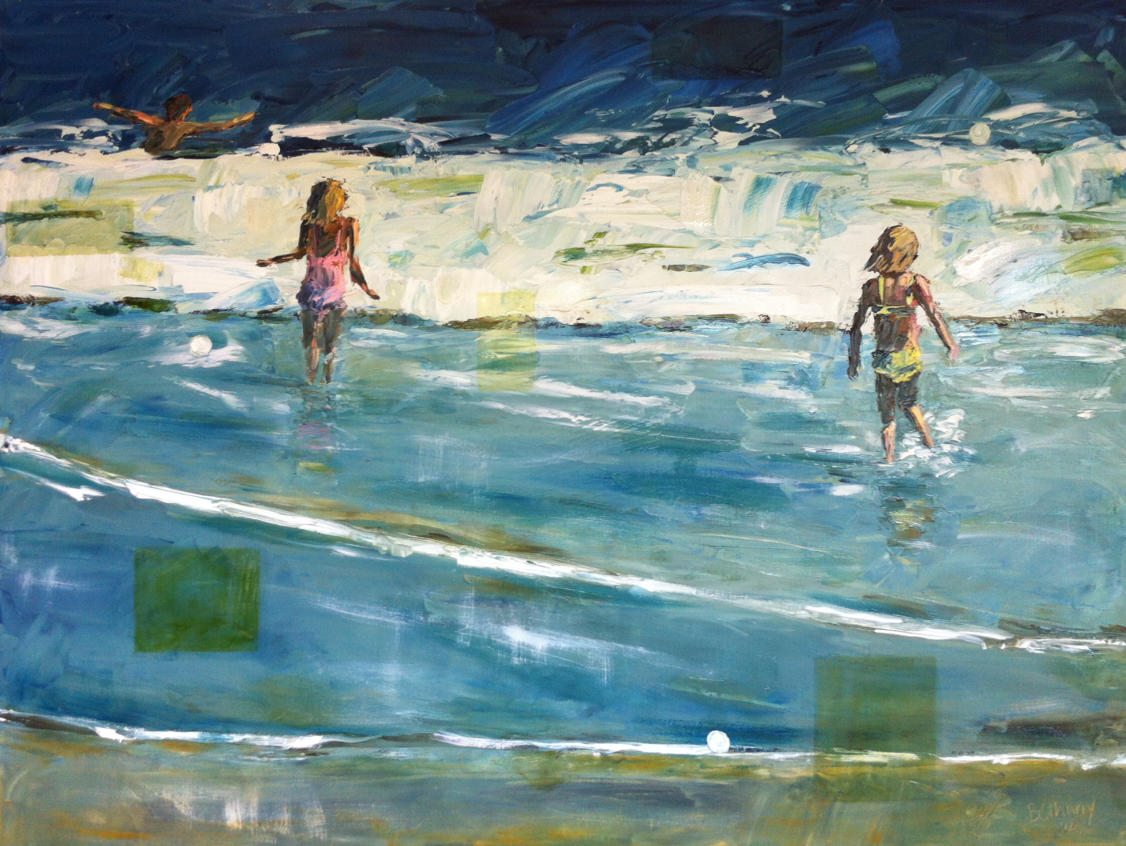 Two Girls in the Waves