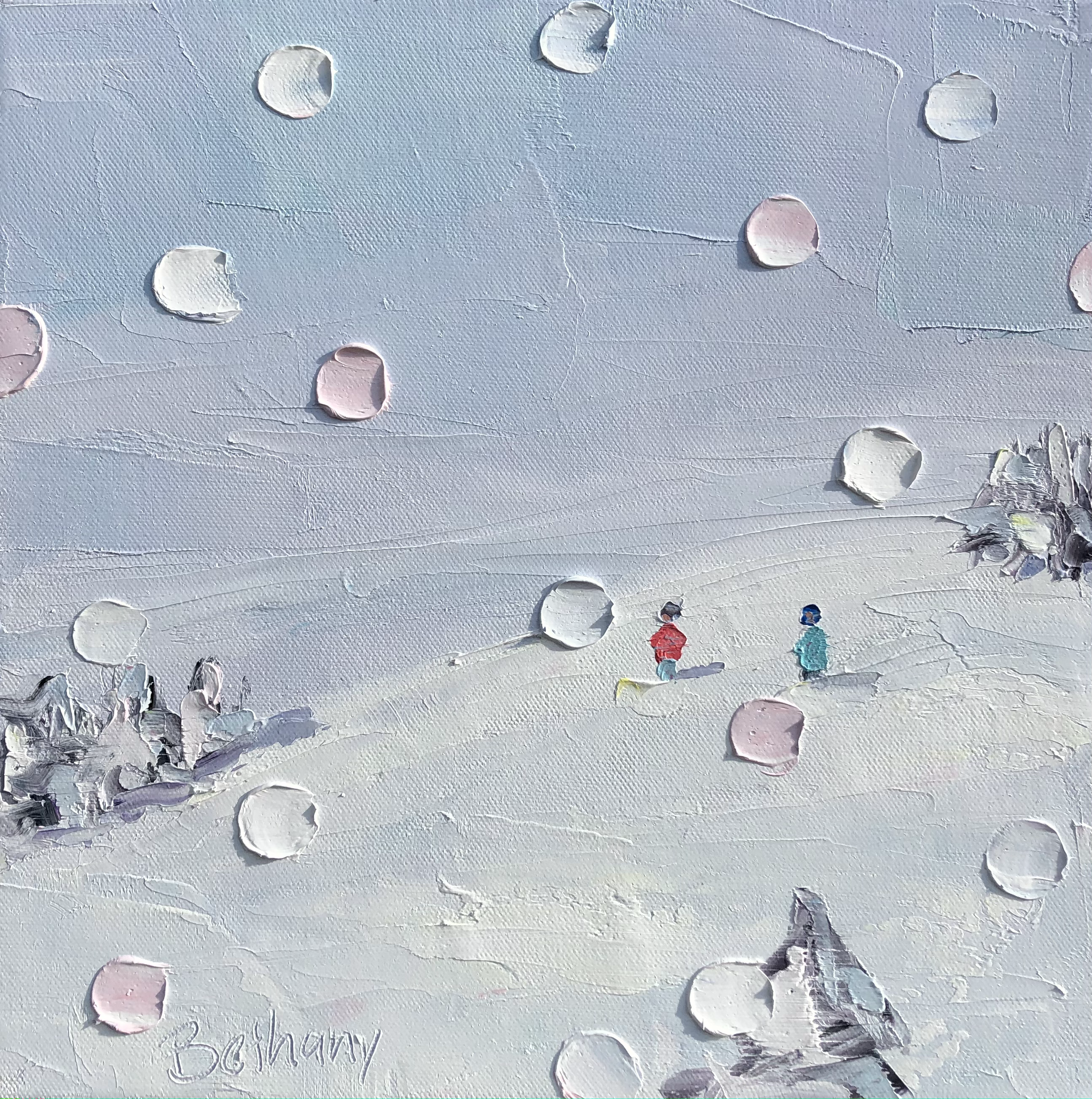 Ski Days - Pink Flakes