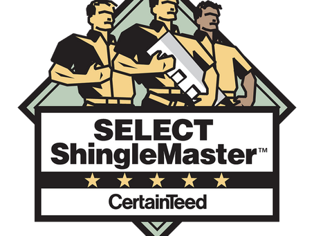 Proud to Partner with Certainteed as a Select Shingle Master!