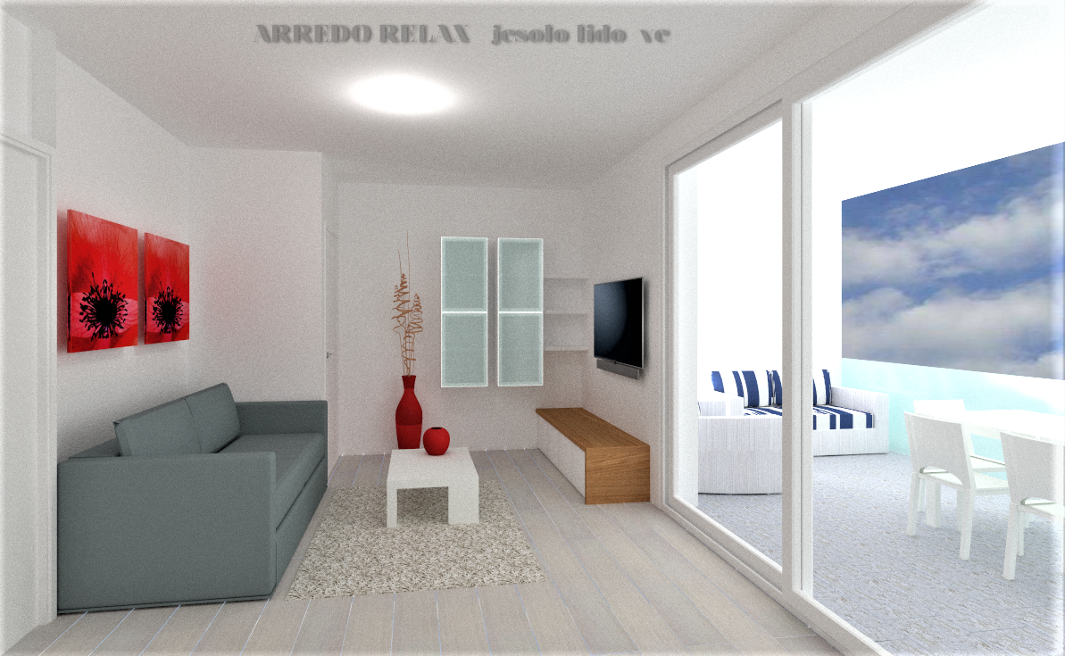 App. 7 Render Living Tv