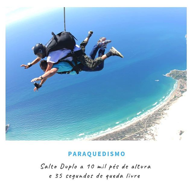 ✔️ Paraquedismo._
