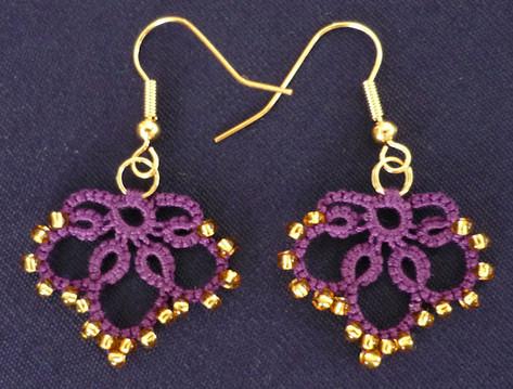 Earrings with beads - dark background.jp