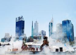 giants depart smoke