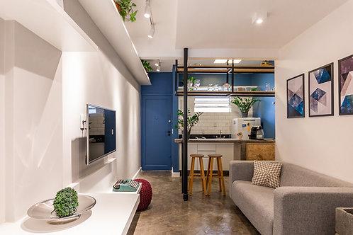 Apartamento em Pinheiros com 1 dormitório - 36m², perto do metrô, sem vaga