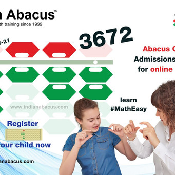 IndianAbacus Classes Admissions going on for online & offline