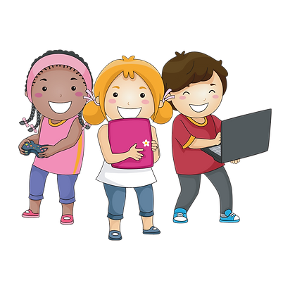 Indian abacus Kids doing abacus online class in smartphone and laptop