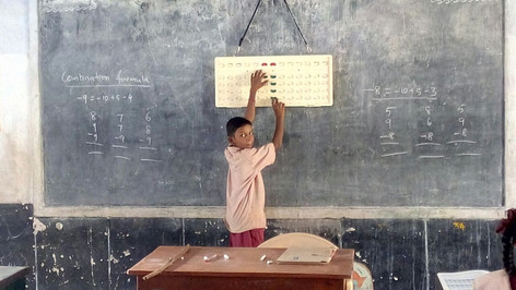 Indian Abacus Free Training program for Government School Children in Paramathi, Vellore District, Tamilnadu