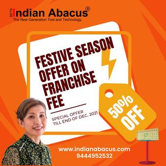 Festive season offer on franchise fee