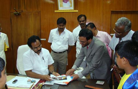 Appreciation by Mr. Thangam Tennarasu, Ex- Minister for Education, Tamil Nadu in 2007
