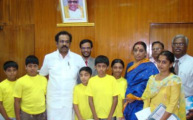 श्री थंगम तेनारासु, पूर्व शिक्षा मंत्री, तमिलनाडु द्वारा २००७ में प्रशंसा