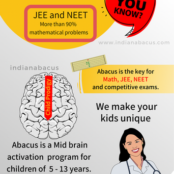 IndianAbacus helps JEE and NEET exams