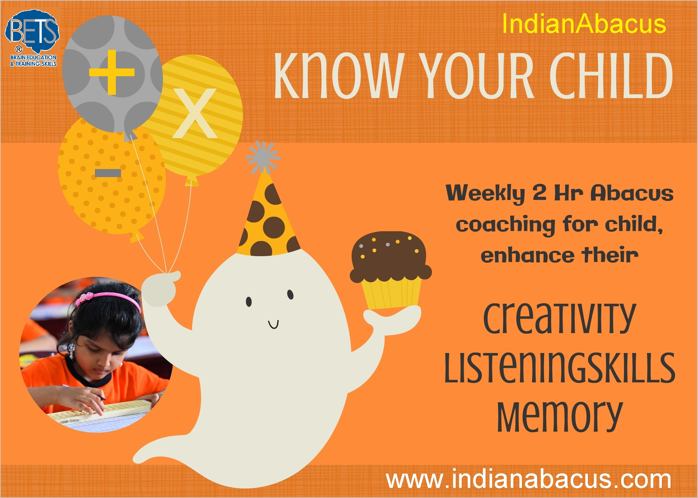 Weekly 2 Hr Abacus coaching for child, e