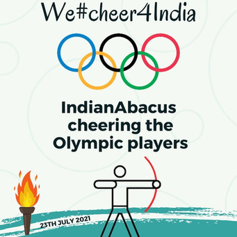 IndianAbacus  cheering the Olympic players-We#cheer4India
