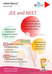 Abacus is the key for Math and JEE. Abacus helps in JEE, NEET and competitive exams.