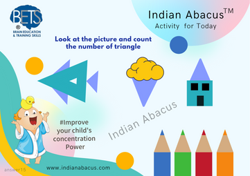 Activity for today- look at the picture and count the number of triangle