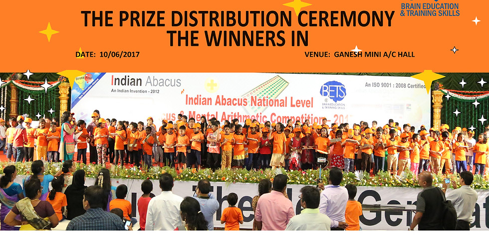 Indian Abacus National level Tournament for Abacus Champion