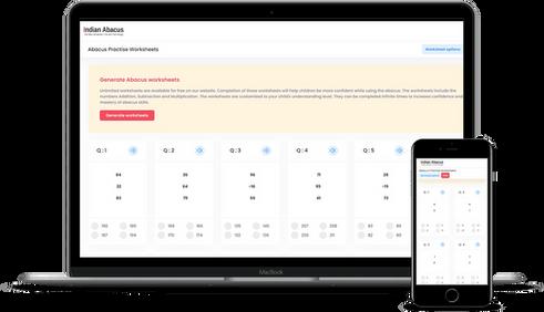Image of Indian Abacus online worksheet