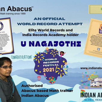 MRS NAGAJOTHI -AN OFFICIAL WORLD RECORD ATTEMPT  THROUGH ELITE WORLD RECORDS AND INDIA RECORDS ACADE