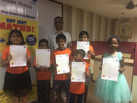 Indian Abacus Certificate Distribution 5