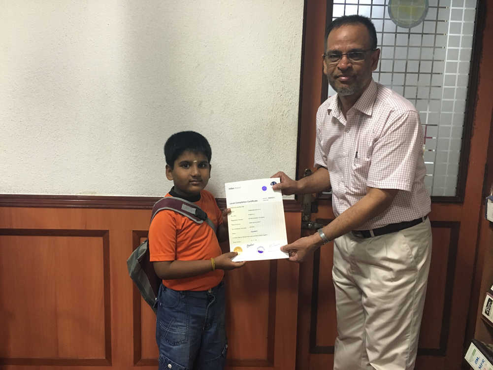 Indian Abacus Certificate Distribution 1