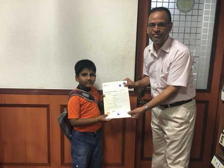 भारतीय अबेकस प्रमाणपत्र वितरण 1