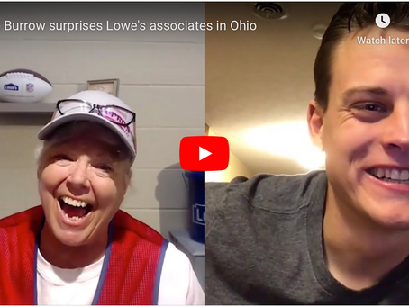 Joe Burrow Brightens Days of Lowes Employees!