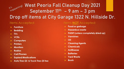 West Peoria Fall Cleanup Day 2021