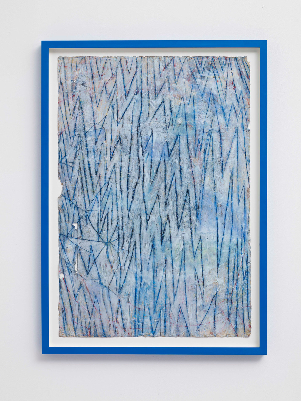 ~ night water. 2015-16. Oil paint, graphite and pastel on paper with artist frame. 87 x 61 x 4 cm