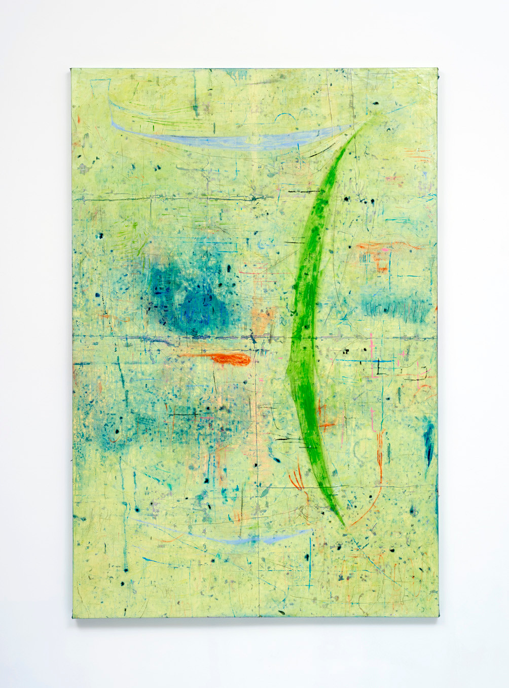 ~ Piss bottle desert father. 2015-18. oil paint, pastel and graphite on linen. 180 x 120 cm