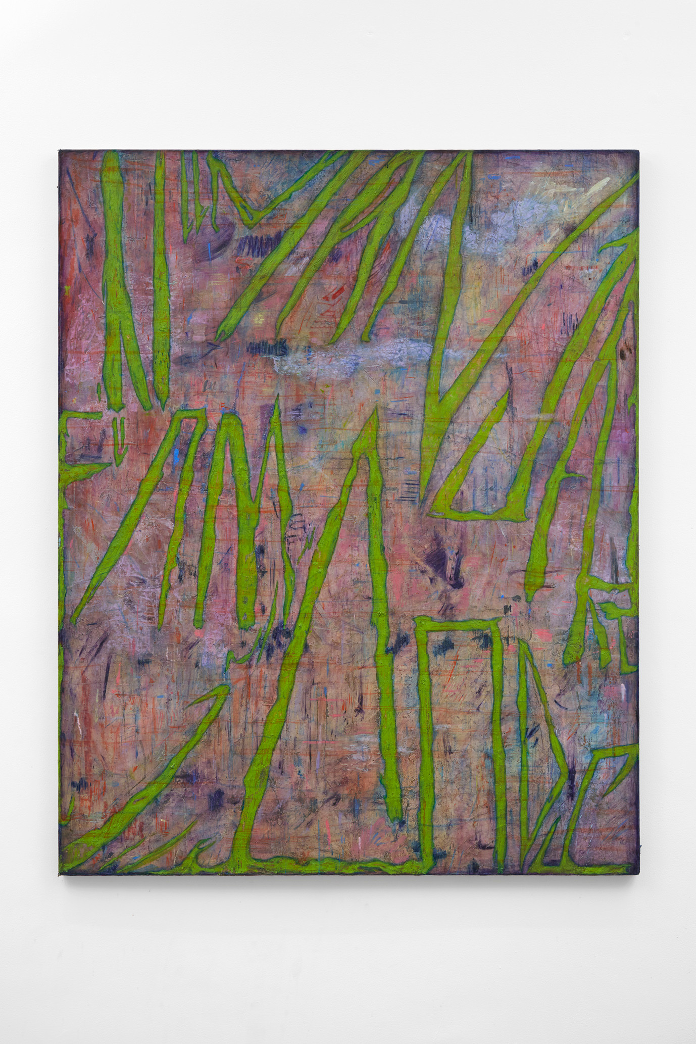 ~ the bony labyrinth. 2015-17. oil paint, oil pastel, and graphite on linen. 150.5 x 120.5 cm