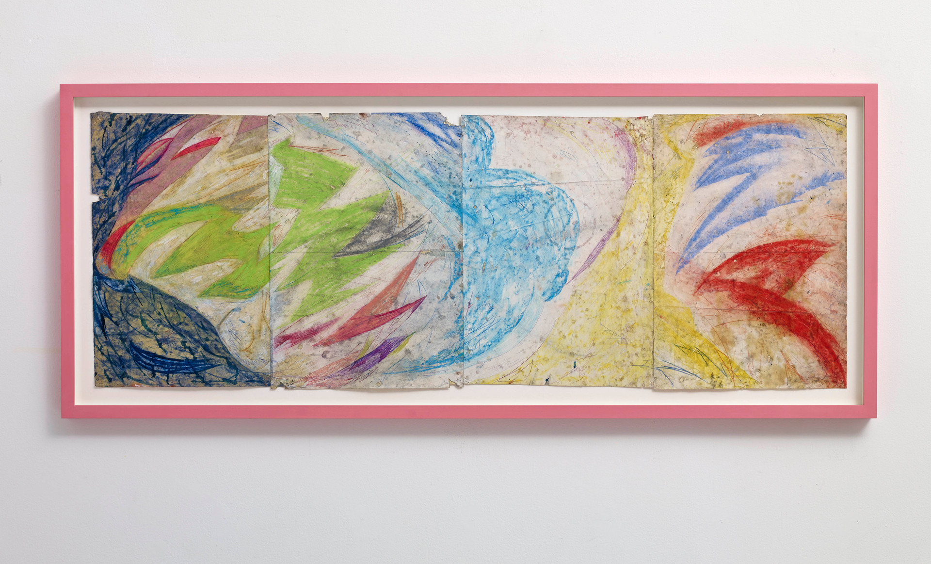 ~ an albatross necklace. 2015-16. oil paint, pencil, graphite and pastel on paper with artist frame. 51 x 124 x 4 cm