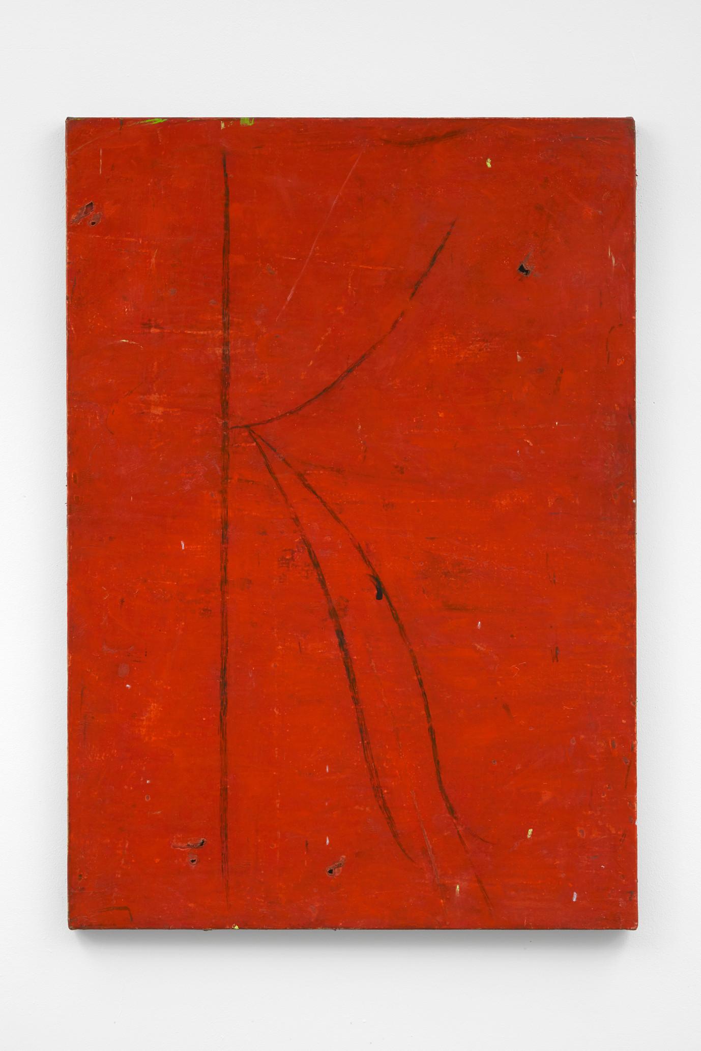~ a k pit, 2015-17. Oil paint, oil pastel and pencil on linen. 100.5 x 70.5 cm