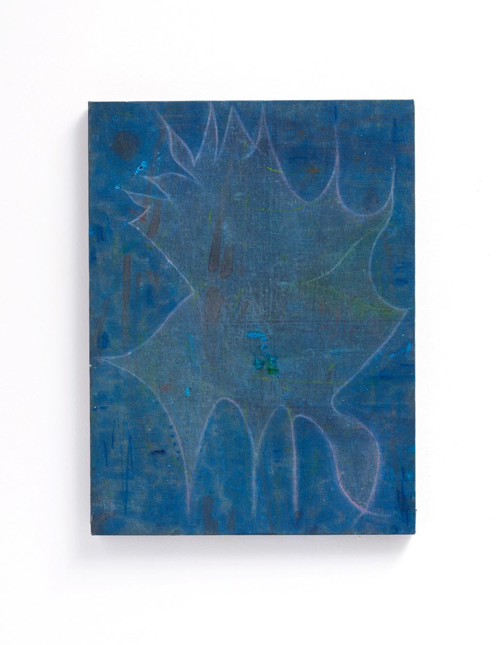 ~ an unfinished extension. 2015-18. oil paint, pastel on linen. 60.5 x 45.5 cm