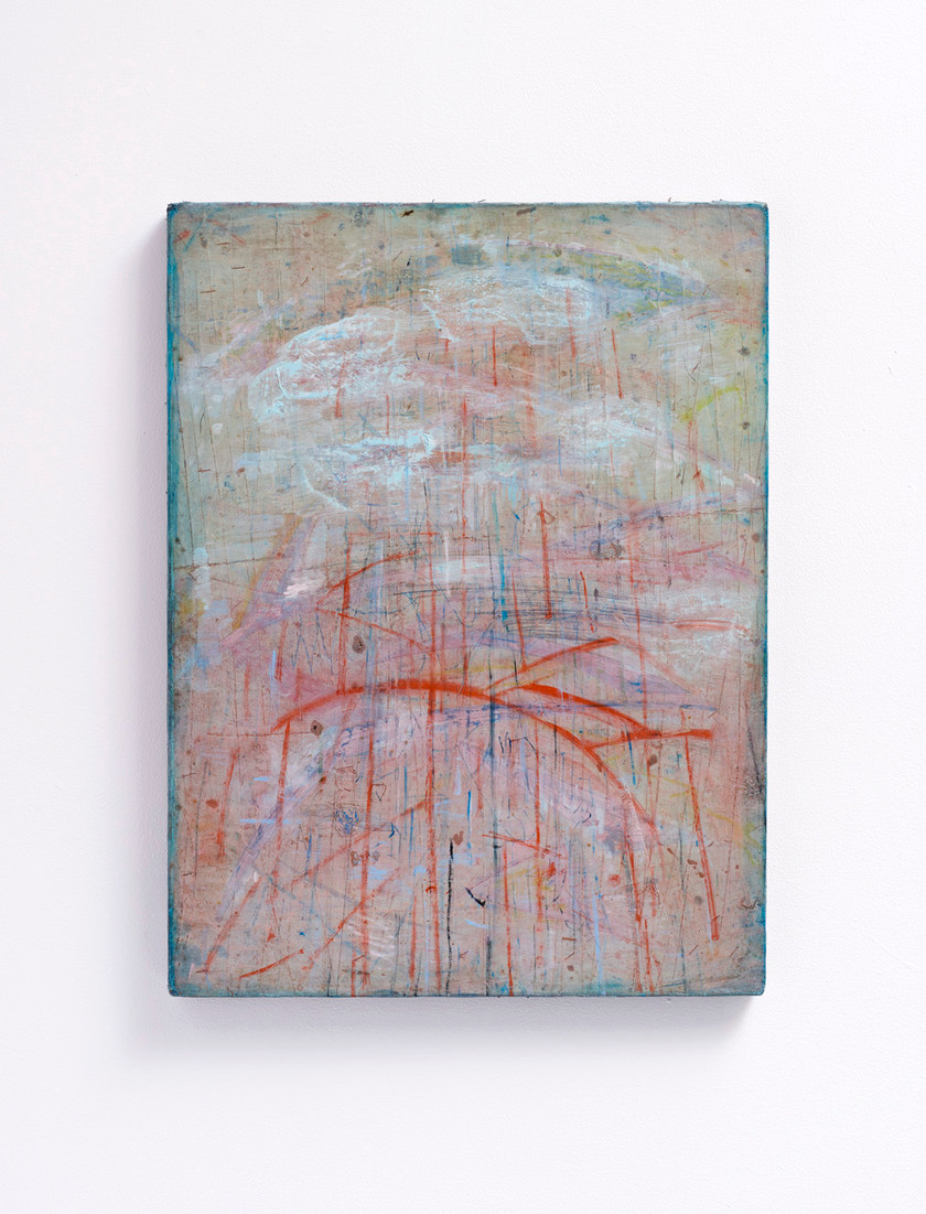 ~ greasy pillow. 2015-18. oil paint and oil pastel on linen. 60.5 x 45.5 cm