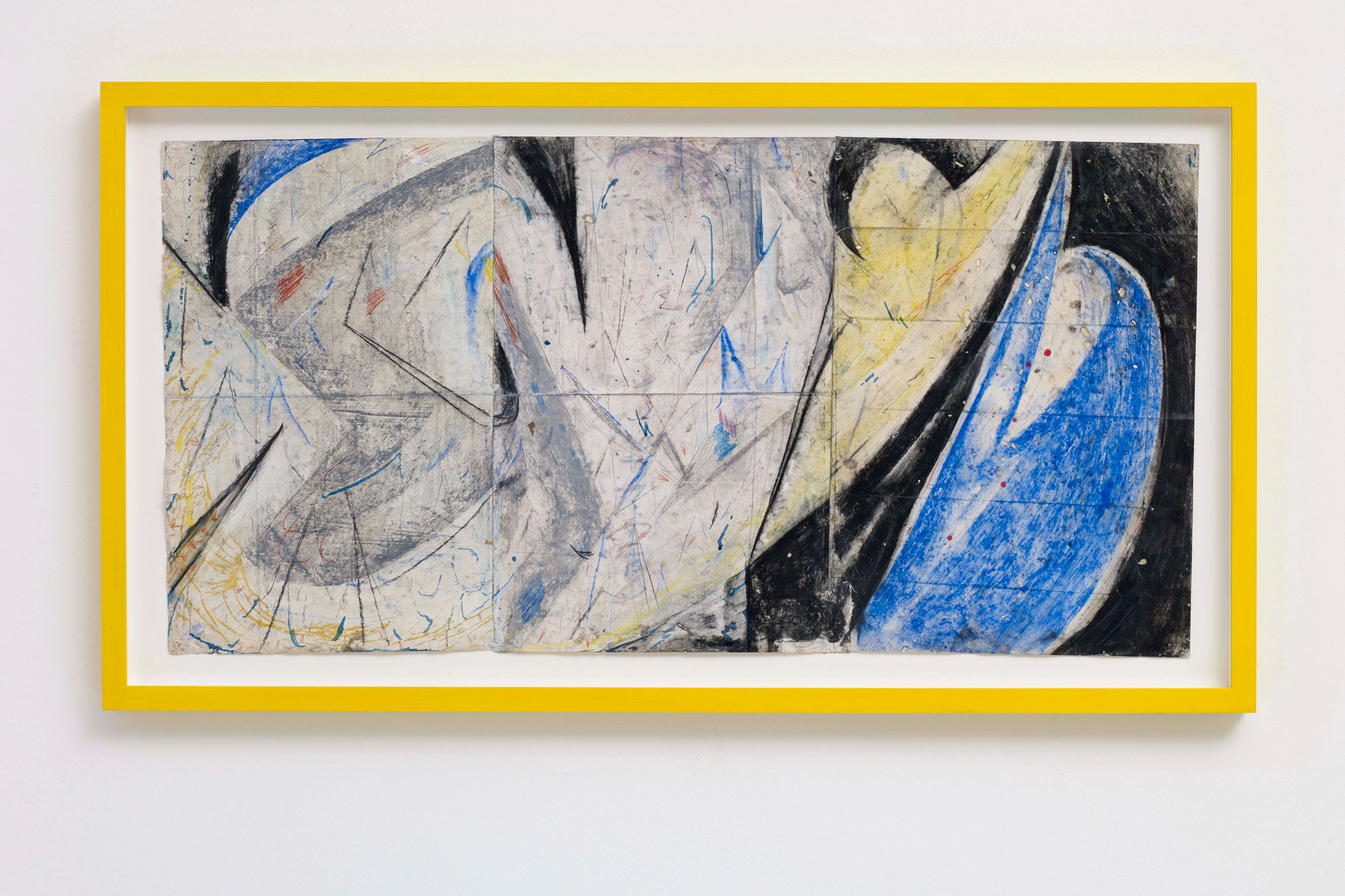 ~ my hard drive is the best hard drive. 2015-16. oil paint, graphite and pastel on paper with artist frame. 51 x 93.5 x 4 cm