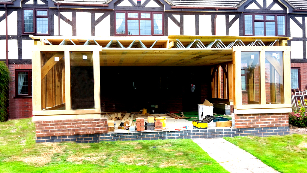 Oak Orangery Under Construction