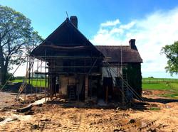 Side Preparation for New Oak Frame
