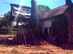 Rear Preparation for New Oak Frame