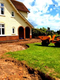 Preparation for Garden Walls/Patio